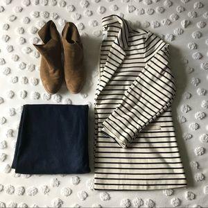 Stripped Ponte Knit Blazer